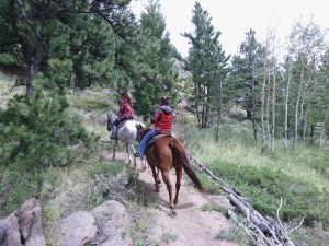 Horseback riding would be number four on our things to do in Estes Park.